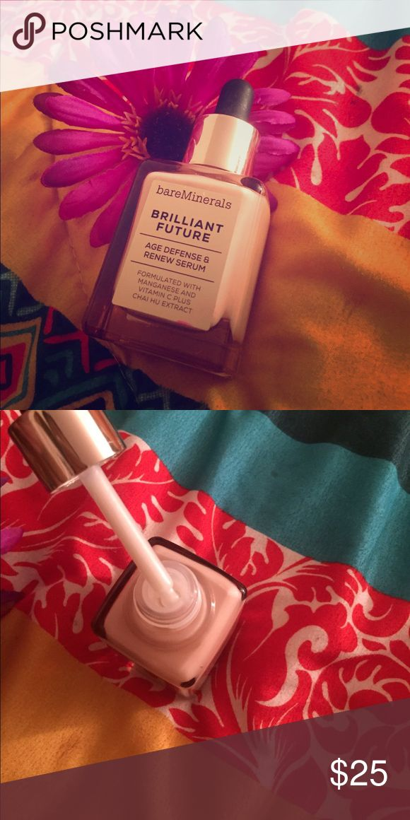 Bareminerals Brilliant Future Serum Age defense and renewal serum! Anti aging! Can be used in the am or pm! NEVER USED bareMinerals Makeup Face Primer