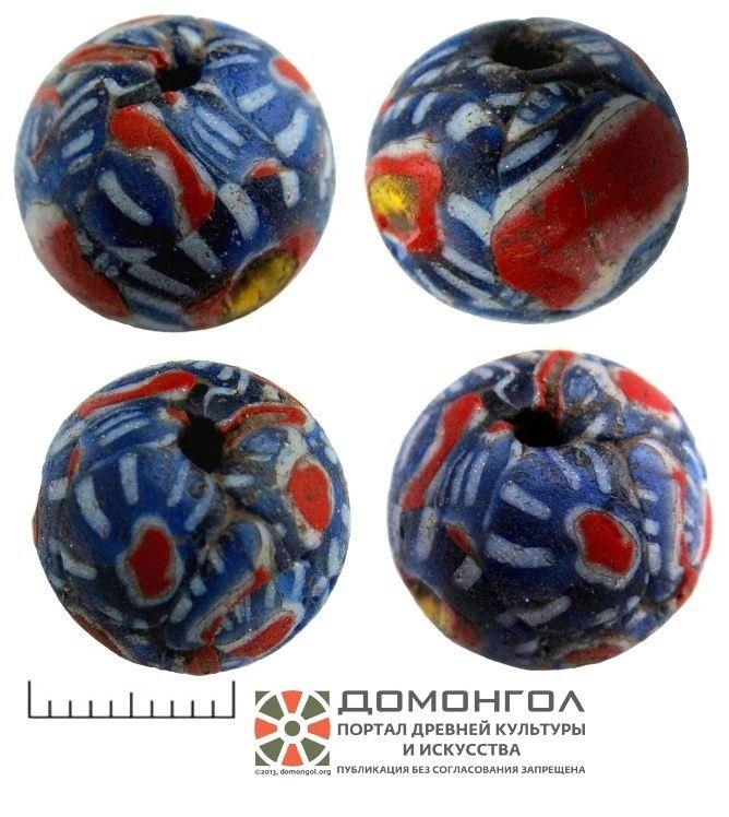 domongol.org   Бусина полихромная  Материал: стекло