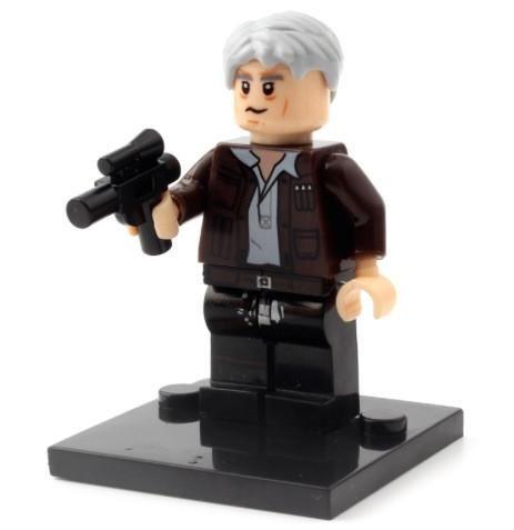 ORIGINAL Han Solo Star Wars The Force Awakens Minifigure fits LEGO - ChavezFigures