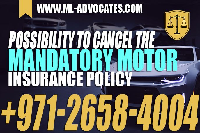 Possibility To Cancel The Mandatory Motor Insurance Policy Car Insurance