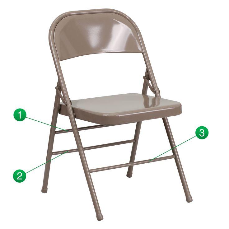 Flash Furniture Hercules Series Triple Braced and Double Hinged Metal Folding Chair