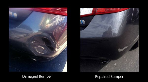 Dented Bumper Repaired | Mobile bumper & scratch repair at Auto Cosmetic Solutions