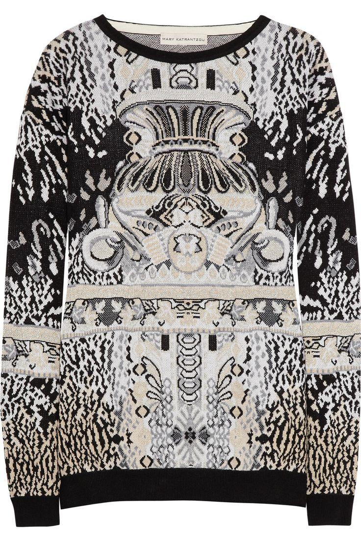 Mary Katrantzou|Intarsia knitted sweater|NET-A-PORTER.COM