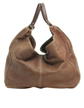 ASOS Premium Washed Leather Slouch Bag