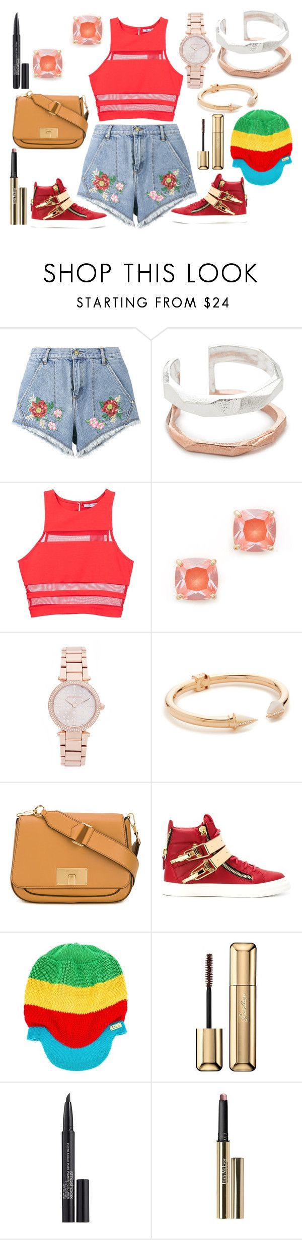 """casuals"" by hillarymaguire ❤ liked on Polyvore featuring House of Holland, Maya Magal, T By Alexander Wang, Kate Spade, Michael Kors, Vita Fede, Marc Jacobs, Giuseppe Zanotti, Christian Dior and Guerlain"