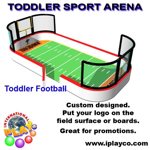 Toddler Football Sport Arena - soft foam play ~ indoor playground ~ www.iplayco.com