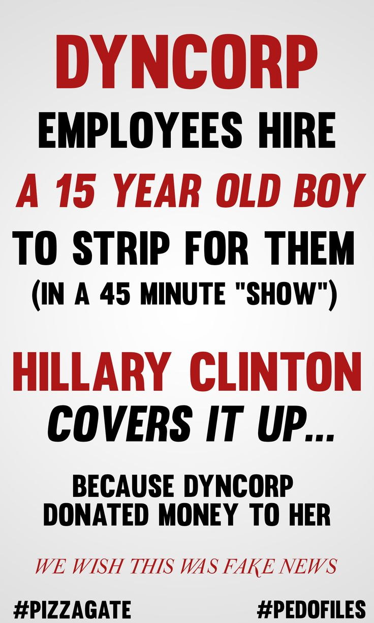 DynCorp employees hire 15-year-old boy to strip dance for them. Hillary Clinton covers it up because she received money from DynCorp. | pizzagate