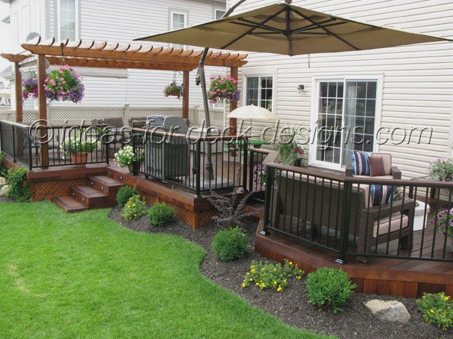 Landscaping Pictures For Decks : Decks on backyard small and back deck designs