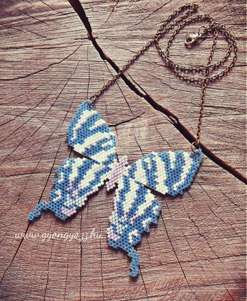miyuki delica beaded butterfly