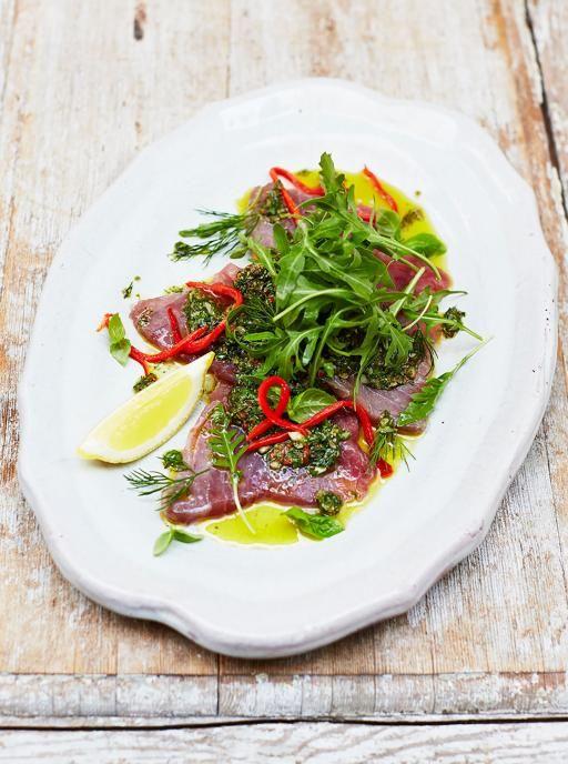 Sicilian-style tuna carpaccio | Jamie Oliver | Food | Jamie Oliver (UK)