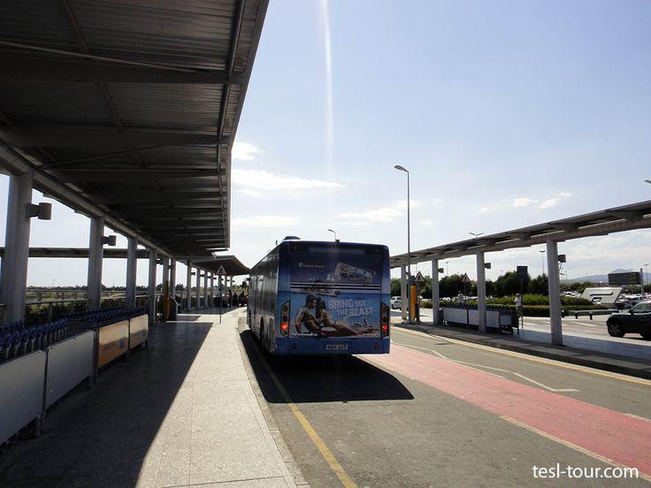 Где находится автобусная остановка в аэропорту Ларнаки? Автобус №425 в город | САМОСТОЯТЕЛЬНО ПО МИРУ