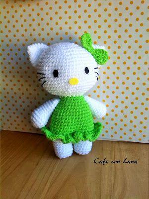 Cafe Con Lana: HELLO KITTY PATRÓN