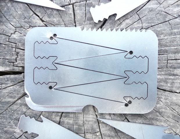 survivalKnife Blade, Arrows Cards, Pre Cut Arrowhead, Survival Gears, Credit Cards, Cool Ideas, Knives, Altoids Tins, Steel Cards