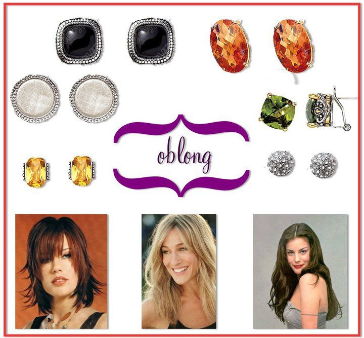 Earrings to wear with Oblong face shape