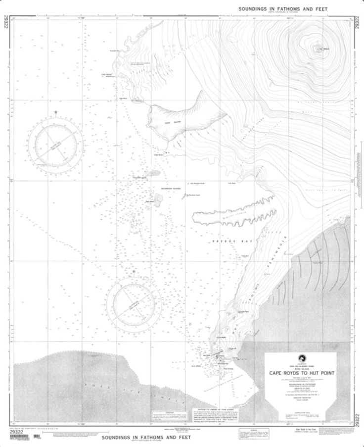 Cape Royds To Hut Point Nautical Chart (29322) by National Geospatial-Intelligence Agency