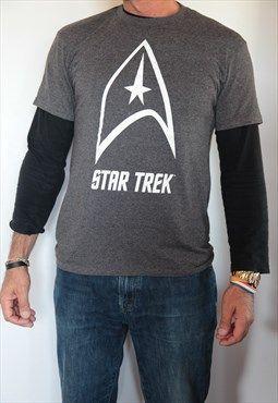 STAR TREK Grey T-Shirt. Size: M
