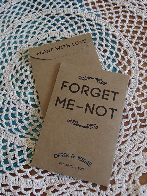 20+ Custom Seed Packet Wedding Favor Forget Me Not DIY Favour Fill Your Own Seeds Plant with Love Memorial Celebration of Life Birthday