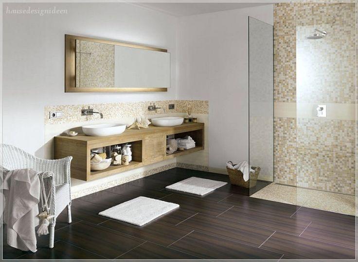 Badezimmer Fliesen Sandfarben Modern Schön