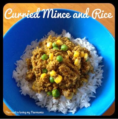 The road to loving my Thermomix: Curried Mince and Rice