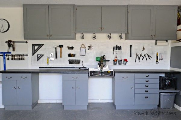 My Recycled Shop Cabinets - Sawdust 2 Stitches