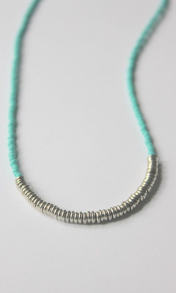layered seed bead necklace - inspiration only (etsy)