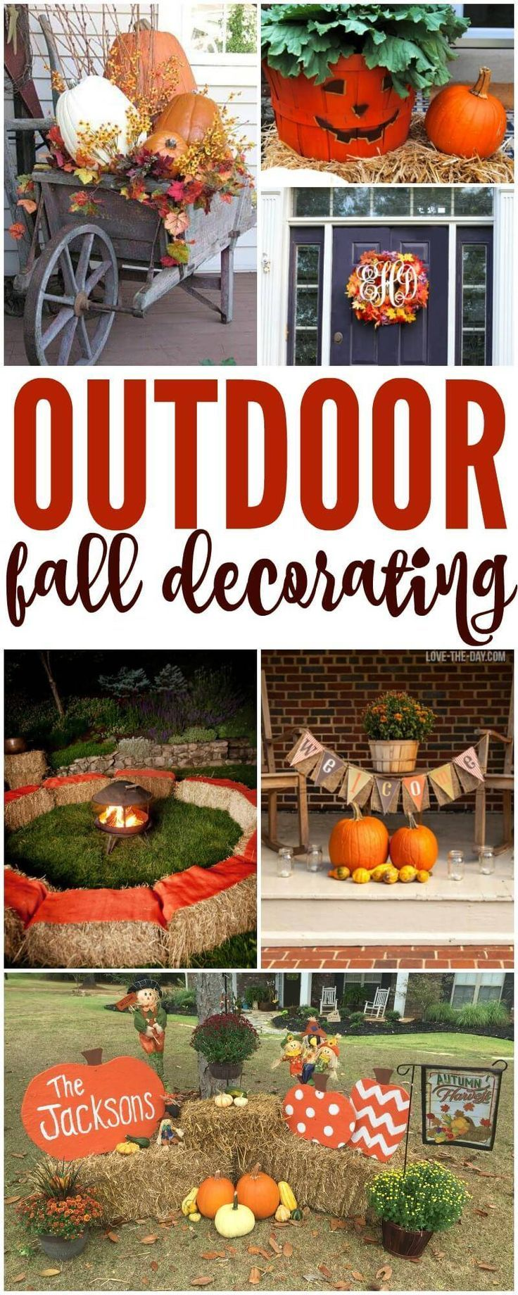 Outdoor Fall Decorations Easy Diy Outside Ideas For