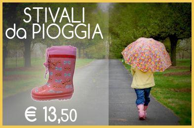 Le prime giornate di pioggia sono arrivate  Non fatevi cogliere impreparati...  STIVALI da PIOGGIA per bambina! http://www.scarpebambinoshop.com/bambina/scarpe-altre-marche/stivali-pioggia-bambina.html #bambina #pioggia