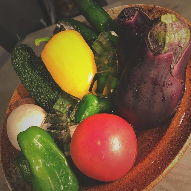 【夏野菜/キンキンに冷えてます】  旬のお野菜は美味しいだけでなく、 栄養たっぷり。  #ゴーヤー#キュウリ#水ナス#トマト#パプリカ#ピーマン#オクラ #小田急#経堂#KYODO#美味しい#焼肉#yakiniku#いちわ#イチワ#ichiwa#肉#地酒#sake#居酒屋#ワイン#焼酎#カウンター