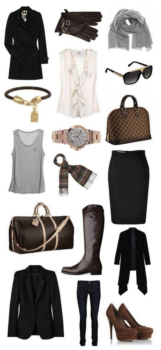 Basics for Work Wardrobe #fashion #business