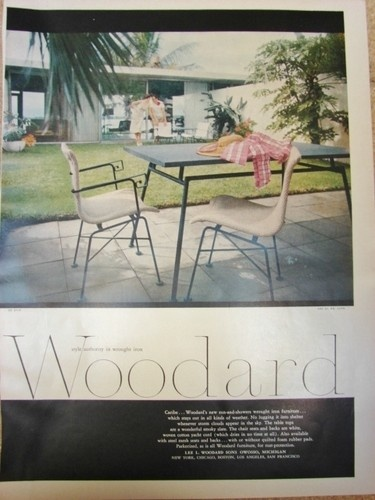 woodard caribe set ad vintage patio patio