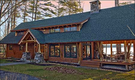 The house plan gray metal roof green hardie board siding for Cedar siding house plans