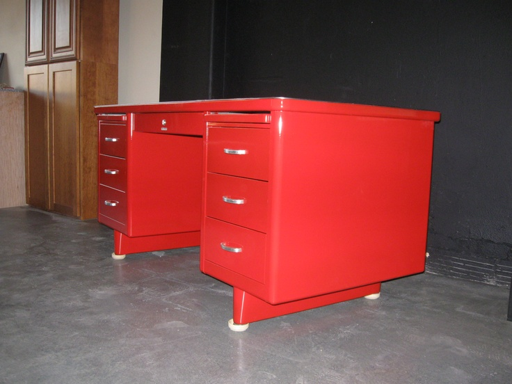 repurposed office furniture. Old 60s Metal Desk Makeover Paint Repurposed Office Furniture
