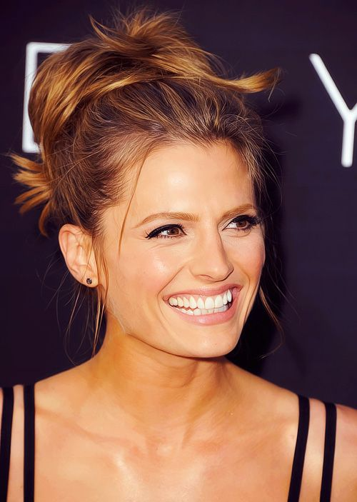 Stana. Gorgeous, and she has an awesome laugh.
