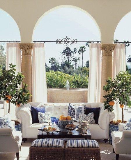 Breezy Indoor Outdoor Space ~ Design Mary McDonald