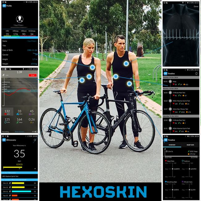 #Bodymetrics #wearabletech for #cycling. If you're #training hard, be sure to train smart with #Hexoskinoceania & measure your results - like never before! hexoskin.com.au