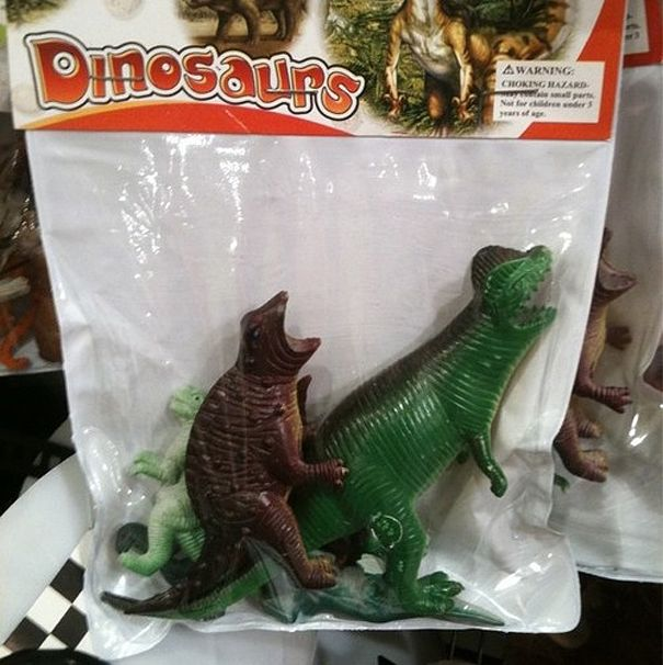 Well, you may suck as packaging but the dinosaurs are happy....