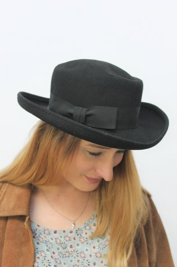 c1aad02a 1980s Fedora Style Hat | 80s fashion- Accessories | Hats, 80s ...