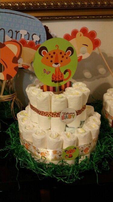 Fisher price decorations to make diaper cake center pieces
