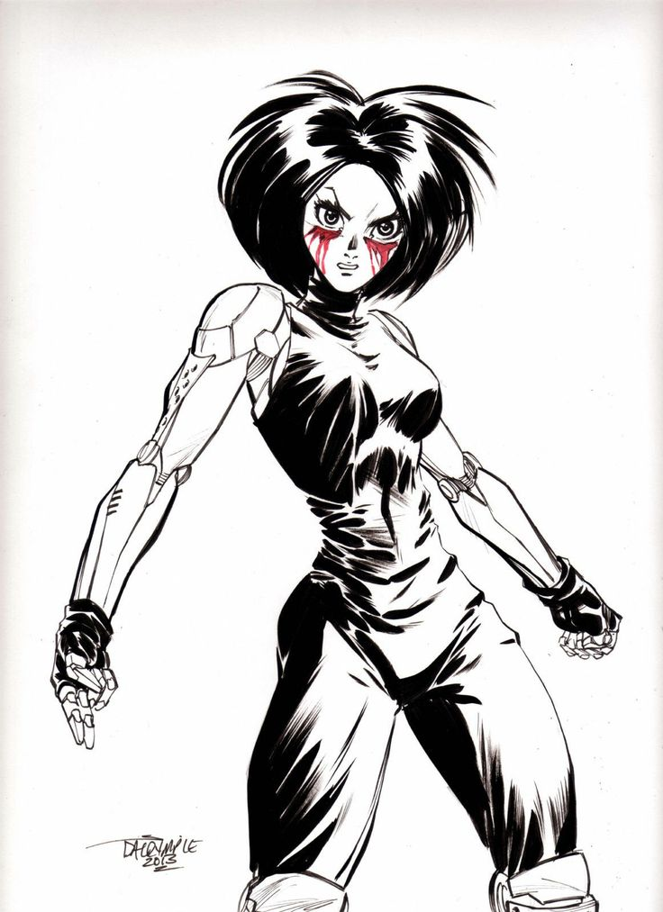 Battle Angel Alita Gunnm Manga Anime original art by Scott Dalrymple