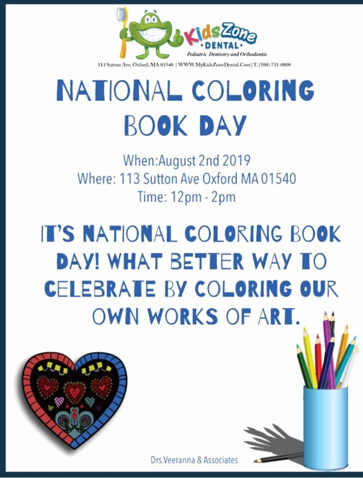 National Coloring Book Day Luxury National Coloring Book Day Kids Zone Dental Toddler Coloring Book Coloring Books Words Coloring Book