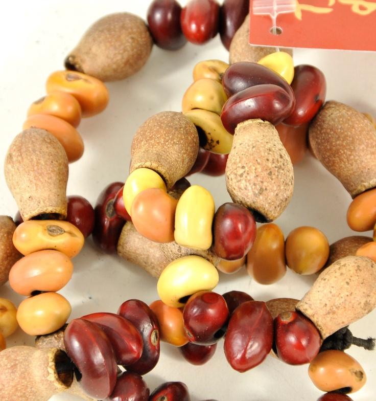 gumnut & seed jewellery from indigenous women around Alice Springs, NT