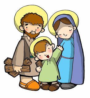 LA SAGRADA FAMILIA DE JESÚS, MARÍA Y JOSÉ Dibujos para catequesis