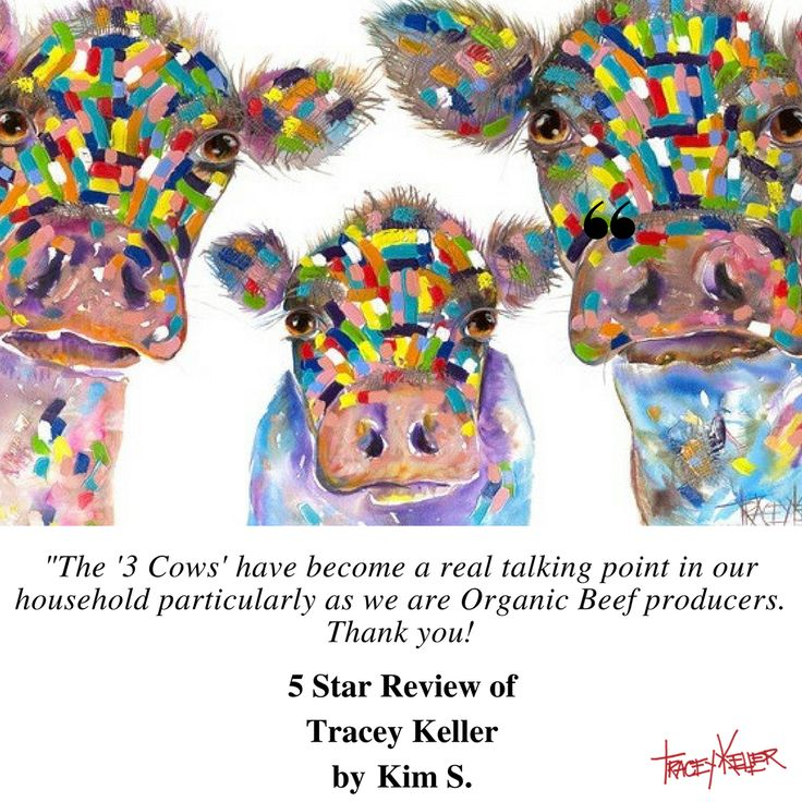 "Thanks Kim!  We love those 3 cows too!  ""We made our purchase at the Eumundi Markets and delivery was very simple and efficient.""  #traceykeller #art #animalart #eumundi"