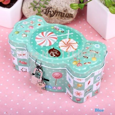 Free shipping beautiful cute  child coin  candy  gift   jewelry storage tin box with lock-in Storage Boxes & Bins from Home & Garden on Aliexpress.com | Alibaba Group