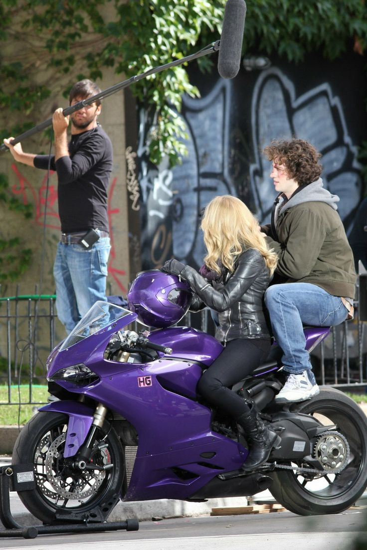 Chloe Moretz - kick  Ass Movie  - Ducati 1199 Panigale - her scenes filmed on a wheel stand with stand ins used to ride the bike.