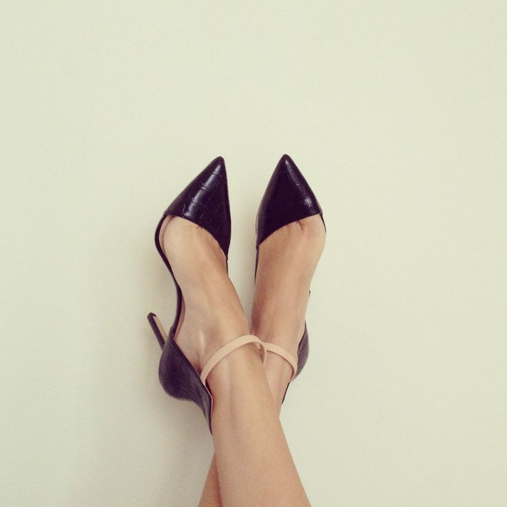 pointed ankle strap