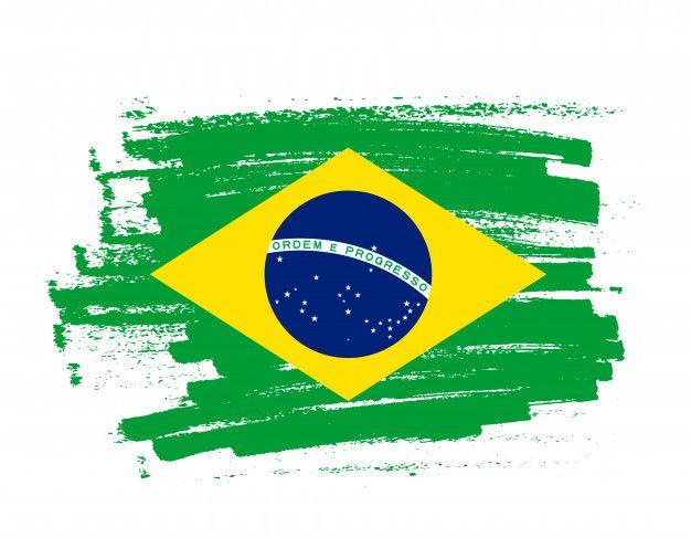 Bandeira De Tracado De Pincel Do Brasil Bandeira Do Brasil Png Bandeira Do Brasil Bandeira Do Brasil Oficial