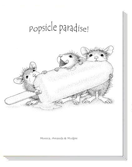House-Mouse Designs® A House-Mouse®  Coloring Book - Volume 1    ---    POPSICLES - My new addiction!