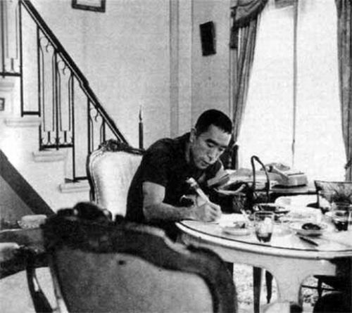 """Most writers are perfectly normal in the head and just carry on like wild men; I behave normally but I'm sick inside."" -Yukio Mishima  Via YouMightFindYourself.tumblr.com"