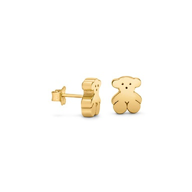 [ TOUS ] These earrings are adorable! My niece would love these! #18ktgold #18ktgoldearrings #Tous